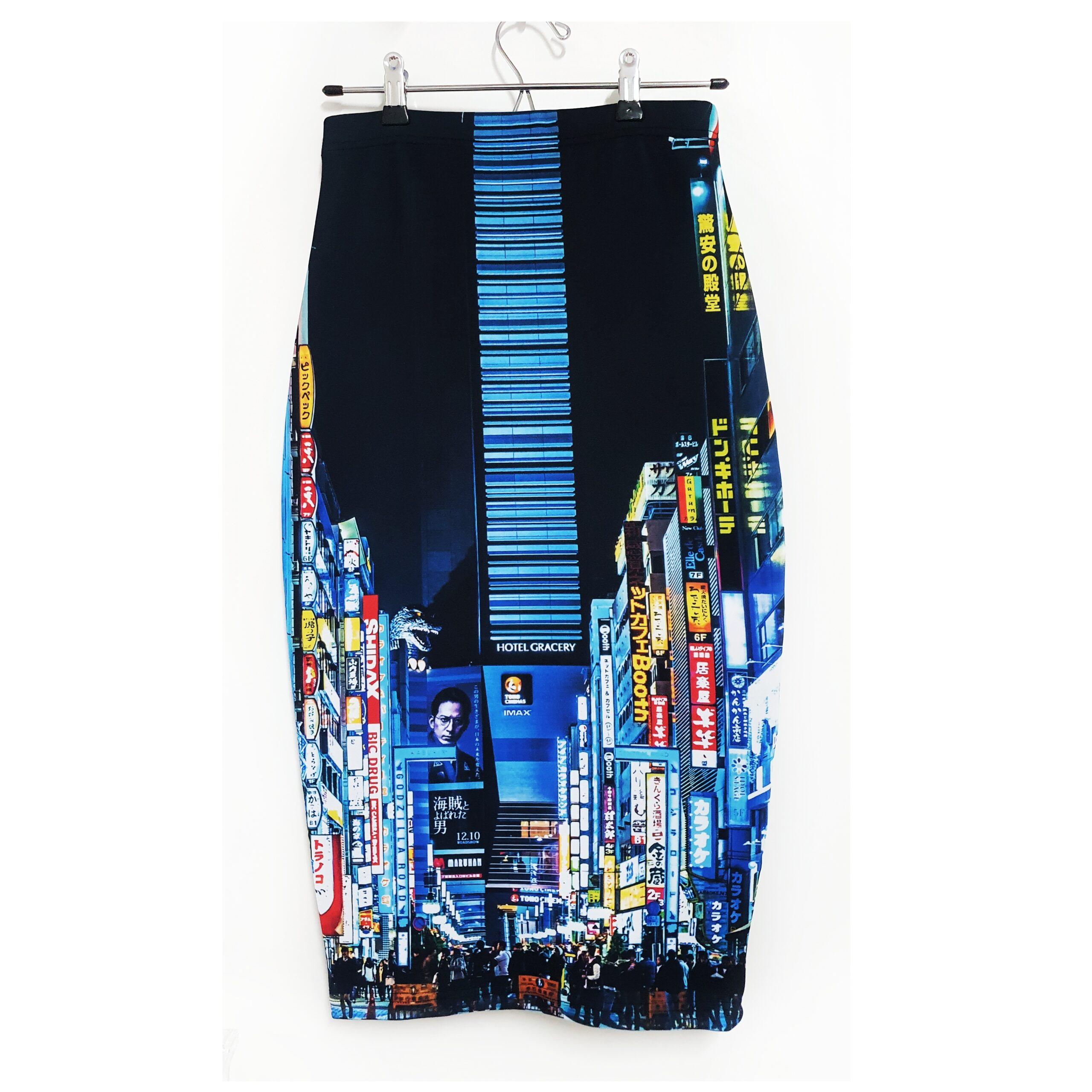 falda midi city tokio