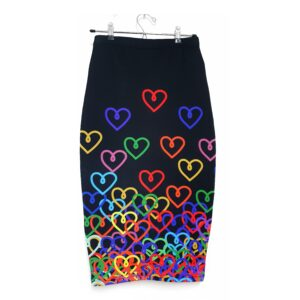falda midi corazon color 1