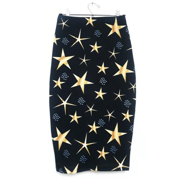 falda midi estrellas doradas 2