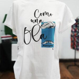 camiseta titulo como una ola algodon 01