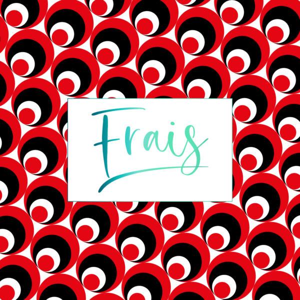 cuadro frais circulos rojos