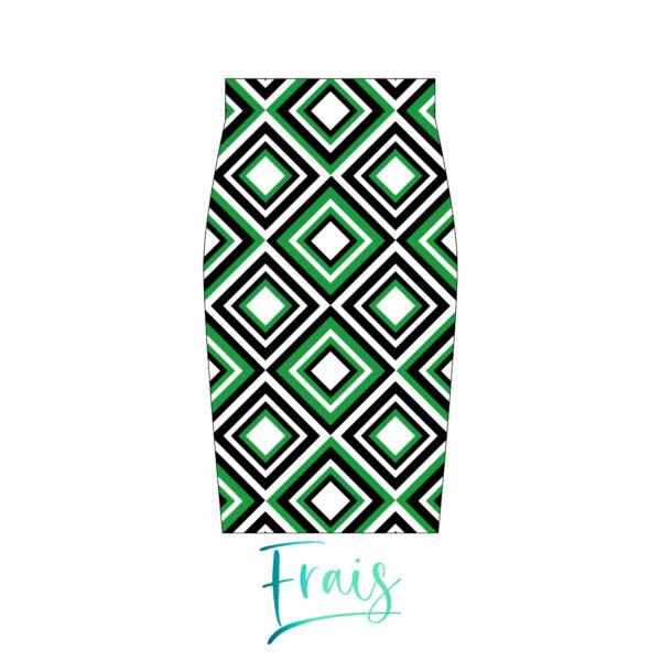 falda rombos verdes frais fondo blanco