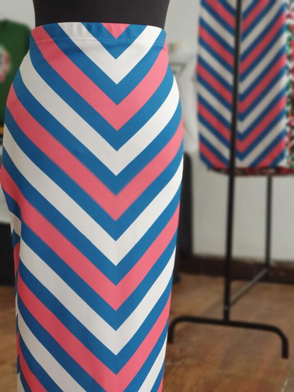 falda midi picris frais rayas rosa azul crudo retro 01