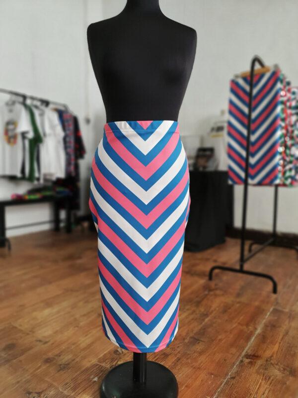 falda midi picris frais rayas rosa azul crudo retro 02