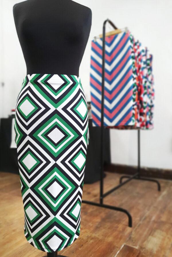 falda midi picris frais verde blanco cuadros retro 02