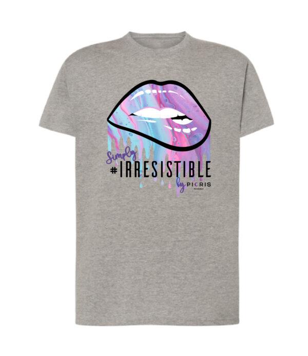 camiseta algodon gris irresistible